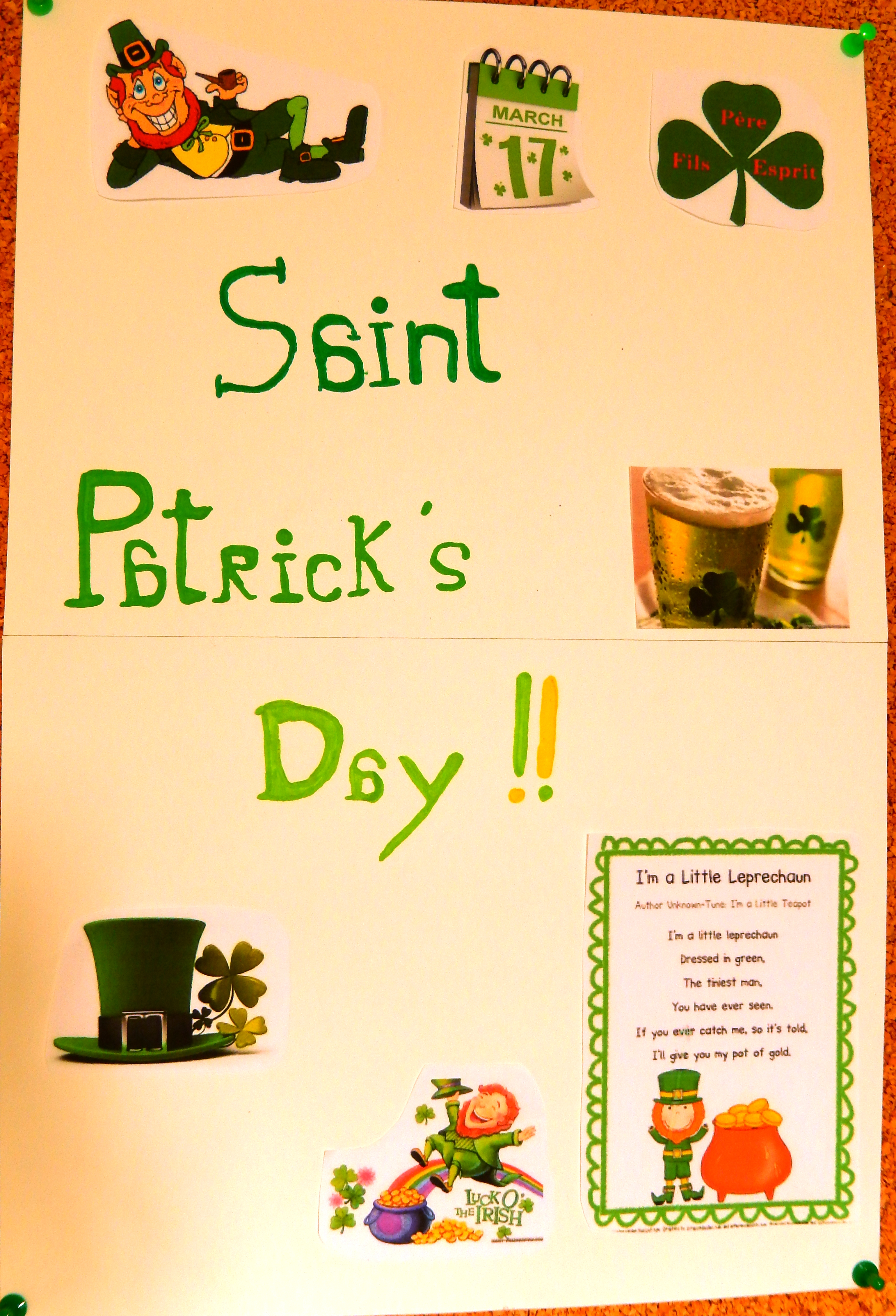 St Patrick's day poster - Claire and Alice